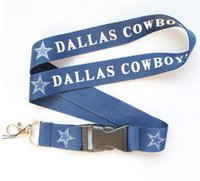 Wholesale Hot DALLAS COWBOYS FOOTBALL sport Lanyard MP3 cell phone keychains Neck Strap Lanyard