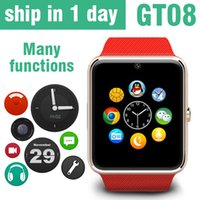arabic clocks - Smart Watch Phone GT08 For android IOS Wristwear Support Sync Smart Clock Smart Watches DHL Free OTH098