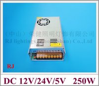 Wholesale LED transformer LED switching power supply with fans W input AC110 V output DC5V V V year warranty