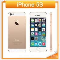 Wholesale Original iPhone s Unlocked GB GB GB ROM MP camera x640 pixel WIFI GPS Bluetooth Cell phone multi language