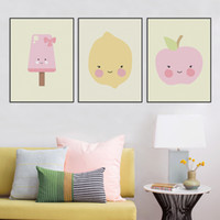 baby giraffe pictures - Modern Kawaii Animals Head Lion Giraffe Canvas A4 Art Print Poster Nursery Wall Picture Kids Baby Room Decor Painting No Frame