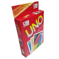 Wholesale Family Funny Entertainment Board Game UNO Fun Playing Cards UNO card with English Instruction Kg China Post Air Mail