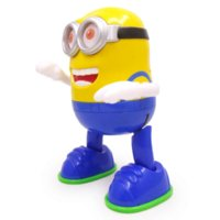 Wholesale Children toys electric robot with light and music dancing robot Despicable Me minions robot toy gift for children with box