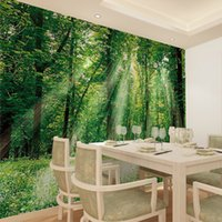 absorb beautiful - Modern large scale non woven fabric from beautiful green forest wallpaper suitable living room dining bedroom TV background