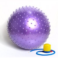Wholesale cm Fitness Yoga Balls Appliance Balance Point Massage Stepping Stones Balance Exercise With Pump Balls