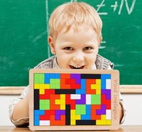 Wholesale Wooden Tangram Jigsaw Tetris Puzzle Toy Wisdom Logic Mind Intelligence Training Teaser Educational Disentanglement Game pieces