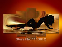 abstract sea paintings sale - High Quality Abstract Brown Sea Nude Women Oil Painting Home Wall Decor Modern On Canvas Art Picture For Living Room Sale