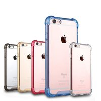 air series - Clear Series Air Cushion Shock Absorption Premium Flexible Soft TPU Bumper Hard Plastic Back Skin Cover Case for iPhone s s Plus