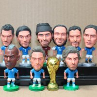 best football fans - 2016 Europe Cup cm High Quality PVC Toys Pierre Totti Styles Souvenirs of Football Dolls Best Gifts for Fans