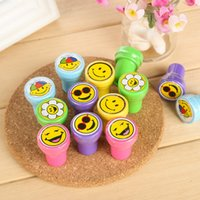 Wholesale cartoon smiley stamp children s cartoon smiley face chop chop Korea creative stationery small gifts