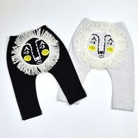 Wholesale Children Trousers Terry Lion head Big PP pants Baby boy and gril cotton Autumn trousers