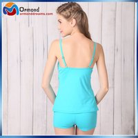 Cheap pure color swimwear Best two piece bathing suits