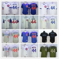 anthony green - Cheap Chicago Cubs Anthony Rizzo Black Army Green White Pinstripes Gray Blue Beige Cream MLB Baseball Jerseys