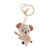 bear pendent - Australia Champagne Pink Koala Bear Lovely Charm Pendent Cute Rhinestone Crystal Purse Bag Key Chain Gift