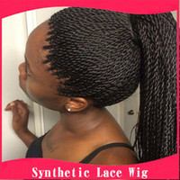 Wholesale Micro Synthetic Braided Twist Lace Front Wigs Natural Color14 Inch