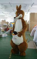 apparel australia - EMS Cartoon Kangaroo Mascot Cute Australia Kangaroo Costumes Mascot Performance Novelty Apparel