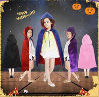 apparel children - 70 CM kids Halloween Hooded Long Cloak with mask children Theme Costume party Cape Kids Performance Clothing Apparel