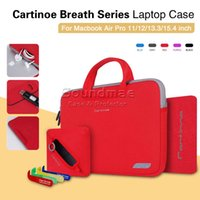Wholesale Cartinoe Breath Series Laptop Case Printing Accessories Bag Nylon Lyc Handbag for Macbook Air Pro inch