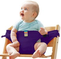 Wholesale Washable Portable Infant Chair Safety Belt Stretch Wrap Feeding Chair Harness Baby Booster Seat