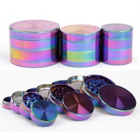 YES beautiful fast - Beautiful Rainbow Grinders Parts Grinder Tobacco Herb Spice Crusher mm mm mm Metal Grinders Herb Mill Magnetic Top Fast Shipping