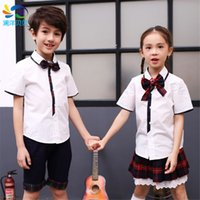 Wholesale Boys Girls sets chothes outerwear Cotton Clothing Sets Children Sleeve Shirt Pants Set Kids Plaid Clothes Casual Suits Outfit summer