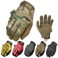Wholesale Mechanix Wear Multicam General Edition Army Military Tactical Gloves Outdoor Motorcycle Cycling Bicycle Airsoft Mittens Full Finger Gloves