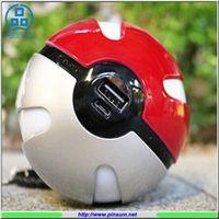 batteries mobilphone - 2016 Hottest selling mAh poke ball power bank li polymer battery charger ball for mobilphone