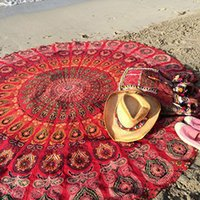 Wholesale Towels New European style beach towel adults chiffon shawl round beach towels Diameter CM