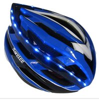 Wholesale Cycling Helmet With LED Tail Light hot new Ultralight Bicycle Helmet Breathable Cycling Helmet Women Men night riding Bike Helmet