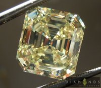 Wholesale 6 ct Fancy Intense Yellow VS1 Emerald Cut Diamond GIA R6651 Diamonds by Lauren