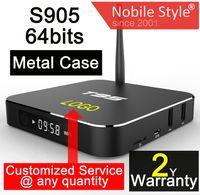 Wholesale 1pcs Customized years warranty Google Android Smart IPTV TV boxes full Kodi Blackbox hd pack Amlogic S905 S905X bits GB GB WIFI T95