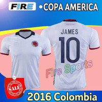 colombia - 2016 NEW Colombia centenary soccer jerseys Uniforms home white in Top Quality copa america JAMES FALCAO CUADRAD football shirts