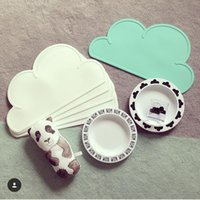 Wholesale New Kids Cloud Tiny Diner Placemat Baby Table Mat Decoration Heat insulated Waterproof Tableware Silicone Plate Mat Table