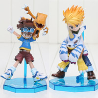 Wholesale Digimon Adventure YAGAMI TAICHI AGUMON ISHIDA YAMATO GABUMON PVC Action Figure Collection Toy Christmas gift collectors with box
