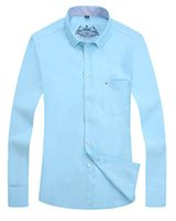 Wholesale 2016 Zmario Autumn and Winter Oxford High Grade Textile Men s Regular Fit Long Sleeve Dress Shirts