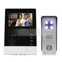 aluminum video intercom - New inch TFT Color LCD Display Aluminum Alloy CCD Camera Video Door Phone Intercom Doorbell LED Color Night Vision