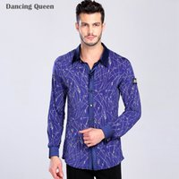 ballroom dance shirts - Boy Men Ballroom Dance Tops Colors Dresses For Dancing Man Latin Shirt Clothing For The Waltz Cha Cha Rumba Samba Dance Tops