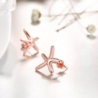 animal shaped sweets - Rose Gold Earring Fashion Sweet Lovely Ocean Style Starfish Shape For women Earring Jewelry