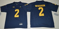 Wholesale 2016 New Michigan Wolverines NCAA Jersey College Football Charles Woodson Blue College Football Jersey