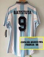argentina rugby jersey - Retro jersey World cup Argentina Batistuta shirt