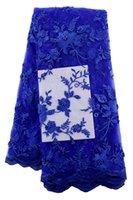 beaded silk chiffon fabric - 2016 African line bud silk chiffon lace lace fabric with French beaded lace fabric QS185