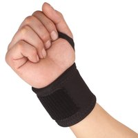 baseball wrist bands - Sports Elastic Stretchy Wrist Joint Brace Support Wrap Band Thumb Loop Black Wrist Strap Fitness Training Baseball Protector order lt no tra