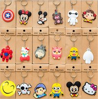 Wholesale Exclusive Design Silicone PVC Keychain Multi Classic Cartoon Characters key Chain F420