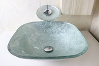 Wholesale clear tempered glass basins for bathrooms Modern Bathroom Glass Basin bathroom wash sink N