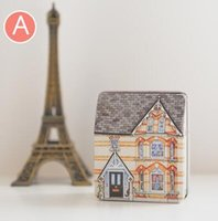 Wholesale Mini ou feng little house Full color anaglyph stereoscopic even cover a small tin box Creative and joyful box