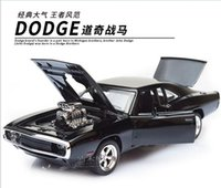 alloy dodge - So Cool The Fast And The Furious Dodge Charger Alloy Cars Models Kids Toys Four Color Metal Classical Cars