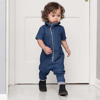 baby boy jumpsuits - Boy Rompers Kid Denim Jumpsuit Baby Onesies Children Clothes Kids Clothing Autumn Rompers For Babies Baby One Piece Romper Ciao C28238