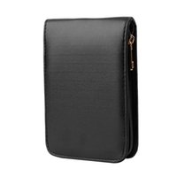 Wholesale New Fountain Pen Roller Pen Black Color PU Leather Zipper Case for Pens hot selling Hot Search