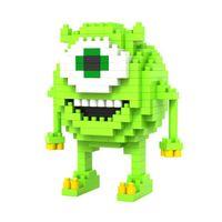 Wholesale Mike Wazowski Building LOZ Diamond Blocks Monsters Action Figures Toys Brain Games for Children Educations A106