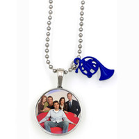 art your face - HIMYM How I met your mother blue french horn tv series show inspirational charm necklace ART DOME PENDANT NW2078